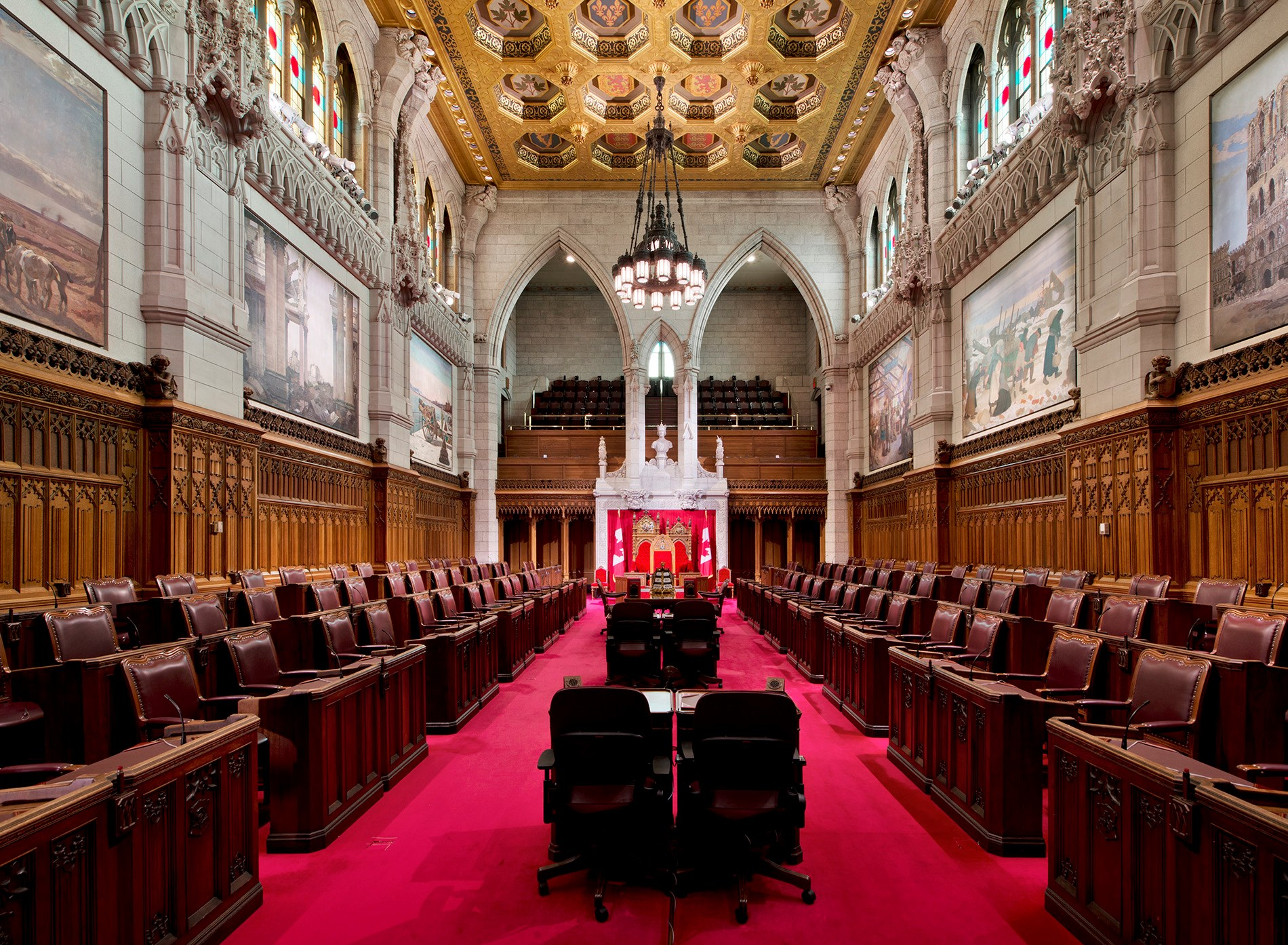 The Senate Chamber in Centre Block